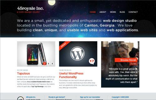 45royale.com Website Design
