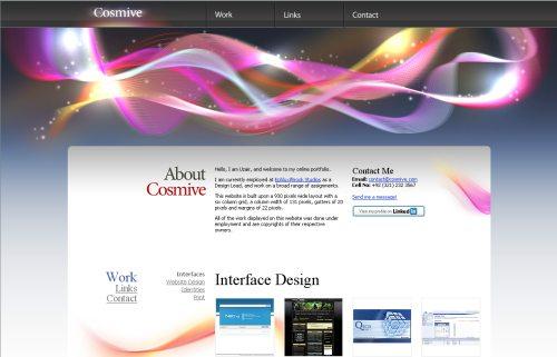 cosmive.com Website Design