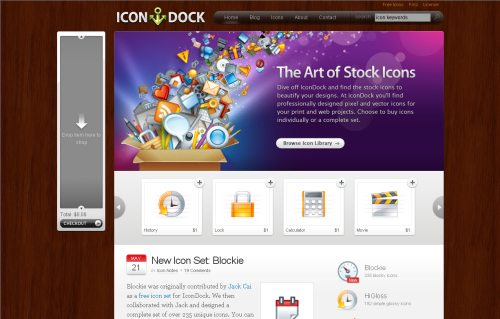 icondock.com Website Design
