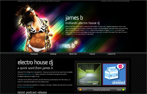 jamesb-dj.co.uk Website Design
