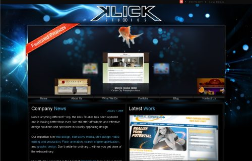 klickstudios.com Website Design