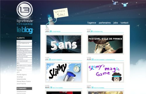 ligne13.com Website Design