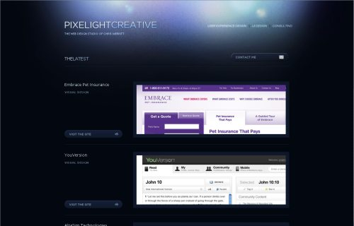 pixelightcreative.com Website Design