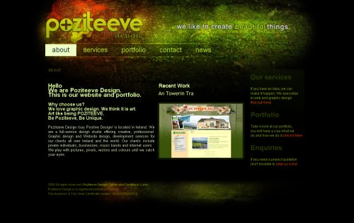 poziteeve.com Website Design
