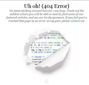 404 error css tricks