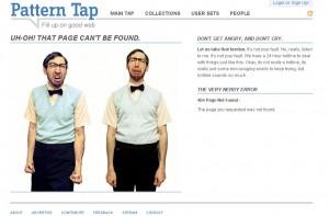404 error seite von patterntap