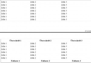 Tbody-Tabellenausdruck im Firefox Zwischenschritt 1